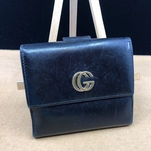 GG072 Gucci Leather Bifold Wallet